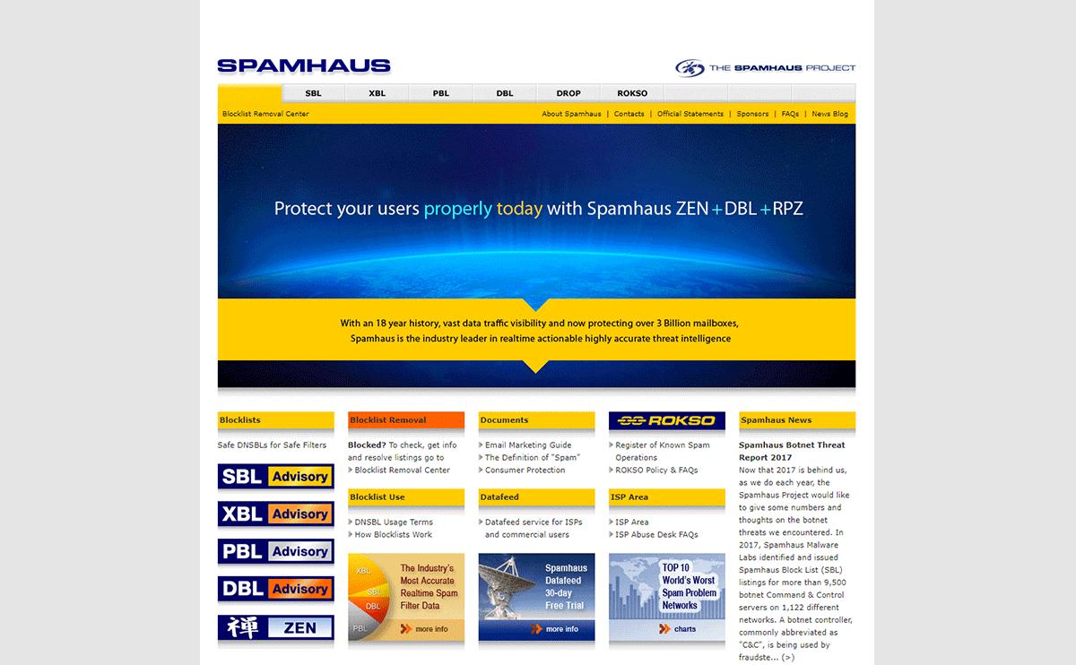 SpamhausのDBLブロックリストの解除方法について
