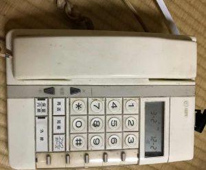 復活した昔の内線電話機