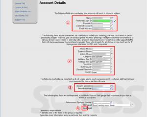 SORBSのユーザー登録フォーム