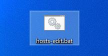hostsファイル編集用バッチファイル(hosts-edit.bat)
