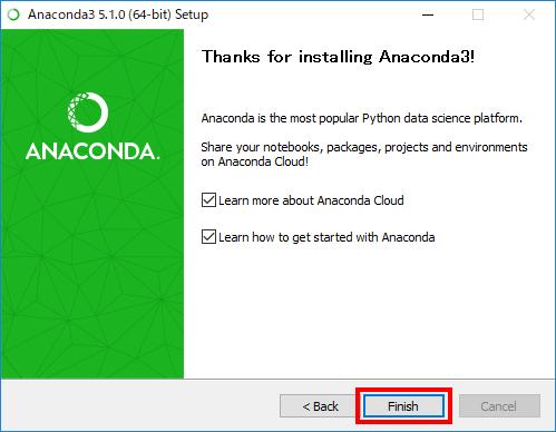 Anacondaインストール(9)