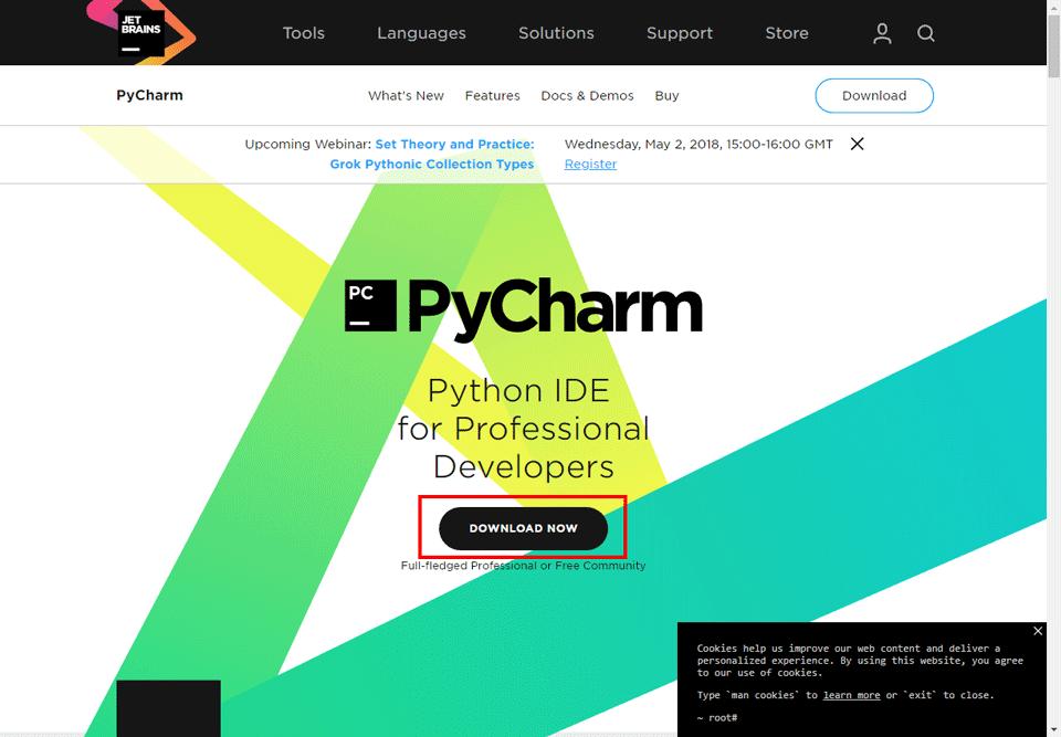 PyCharm公式ページ