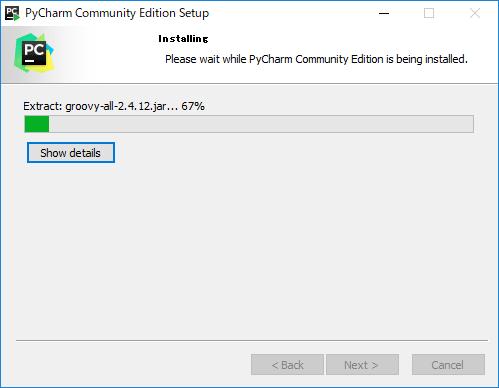 PyCharmインストール画面(5)