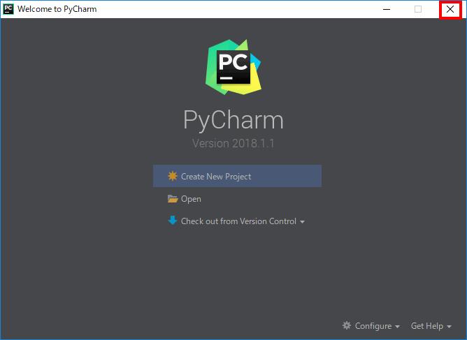 PyCharm初期設定完了