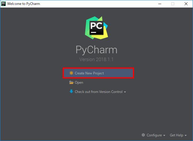 PyCharmのプロジェクト作成