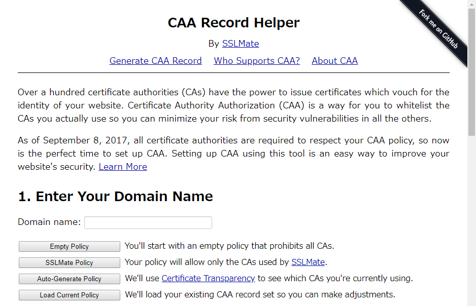 CAA Record Helper