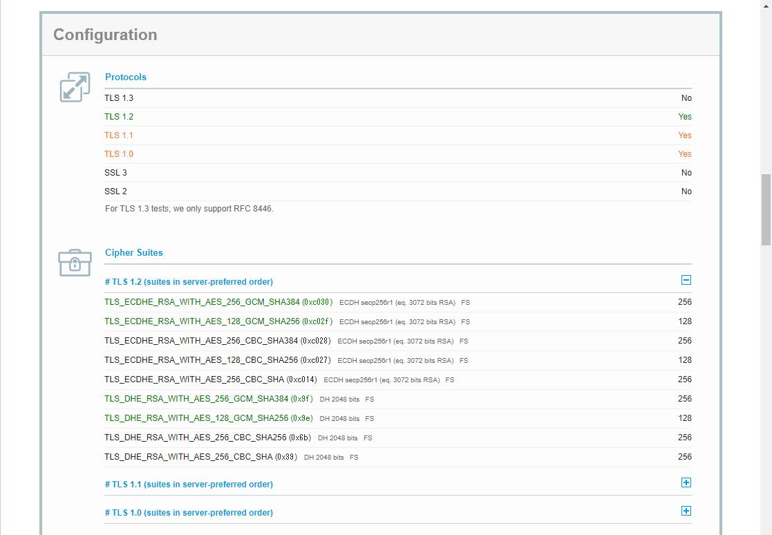 「SSL Server Test」実行結果(3)