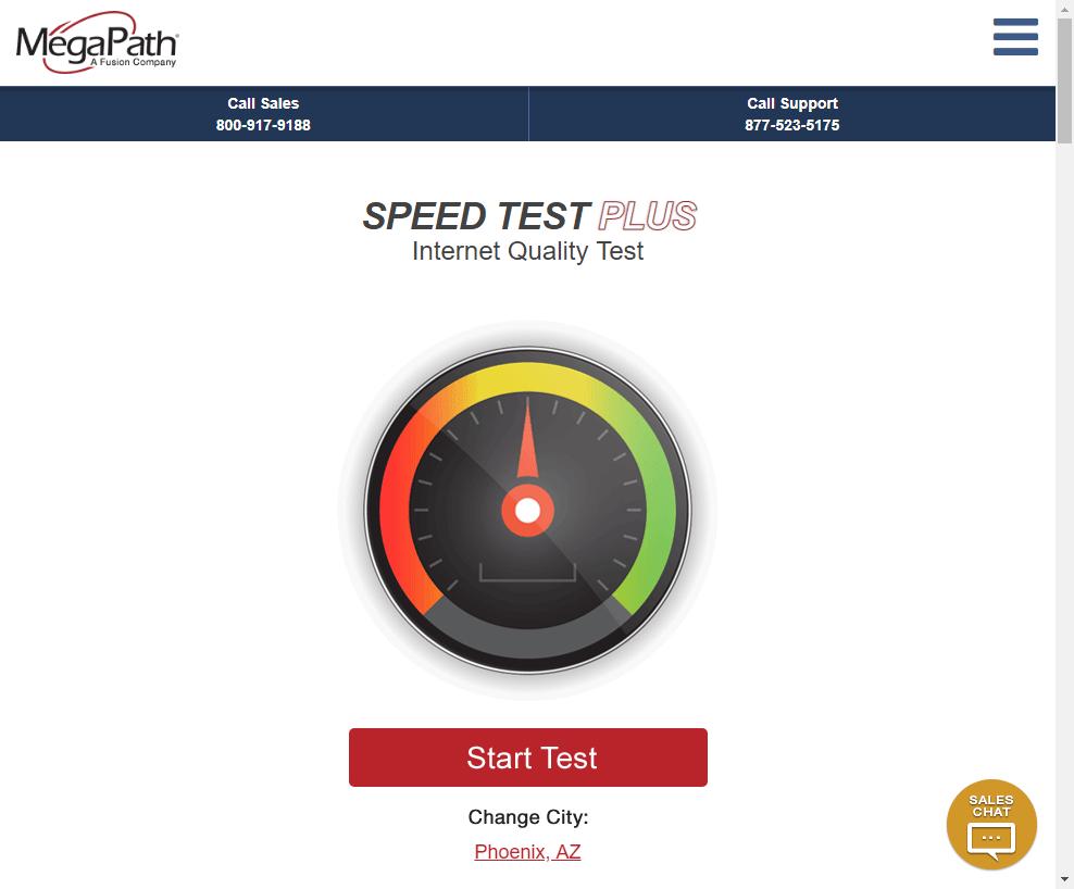 SPEED TEST PLUS公式ページのキャプチャ画像