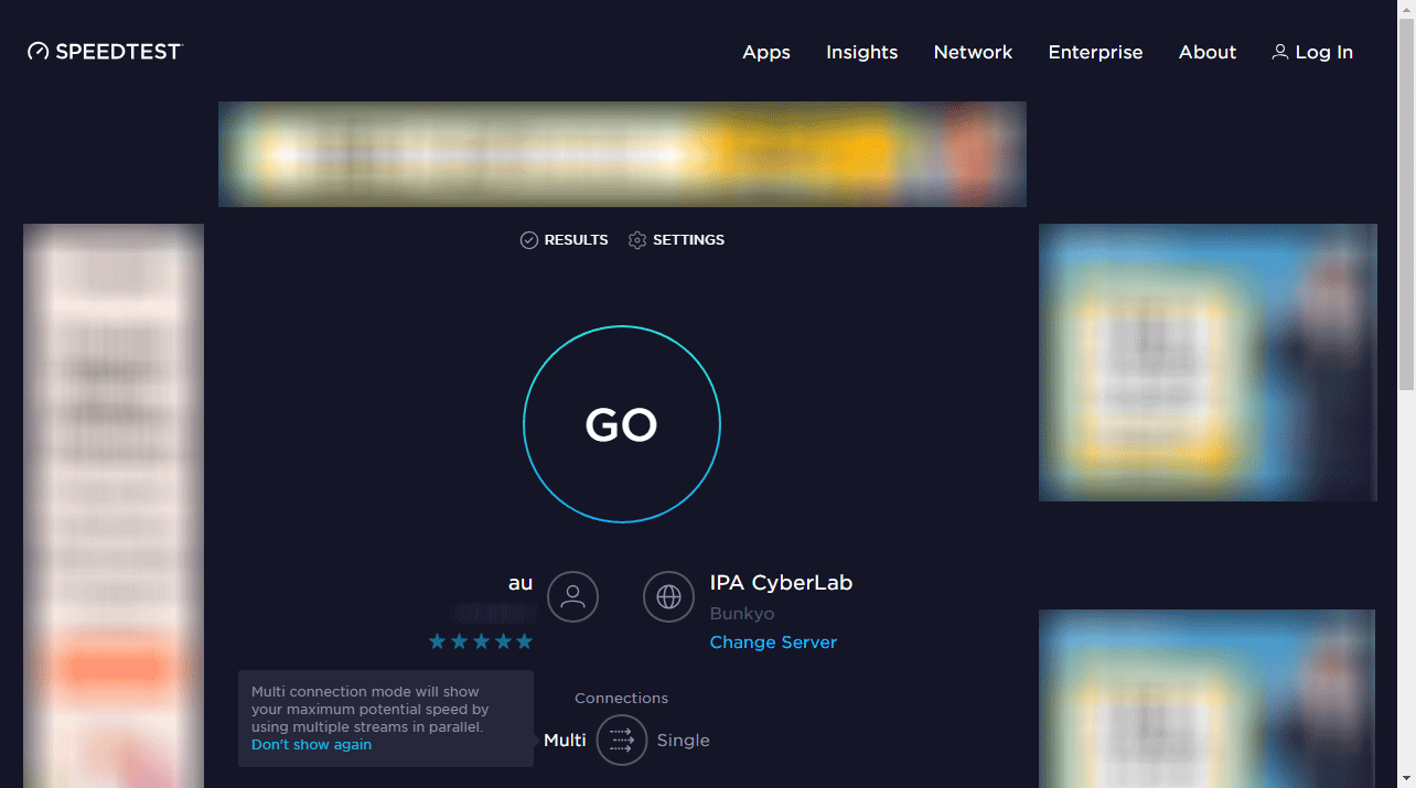 Ookla Speedtest公式ページのキャプチャ画像