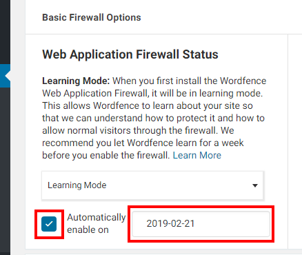 「Automatically enable on」にチェックを入れる