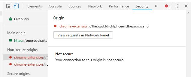 「chrome-extension://~」警告の詳細