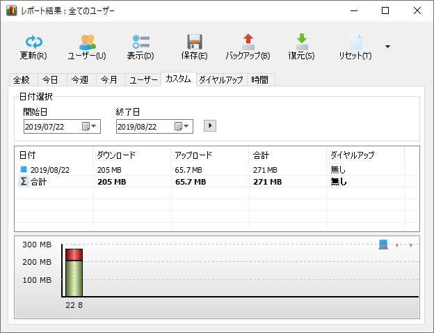NetWorxレポート結果(カスタム)