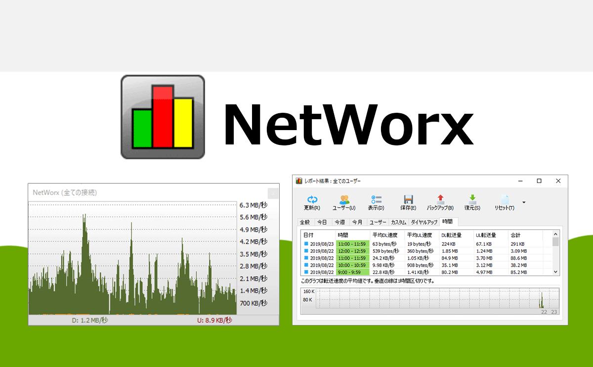 通信量をリアルタイムで計測して監視するならNetWorx
