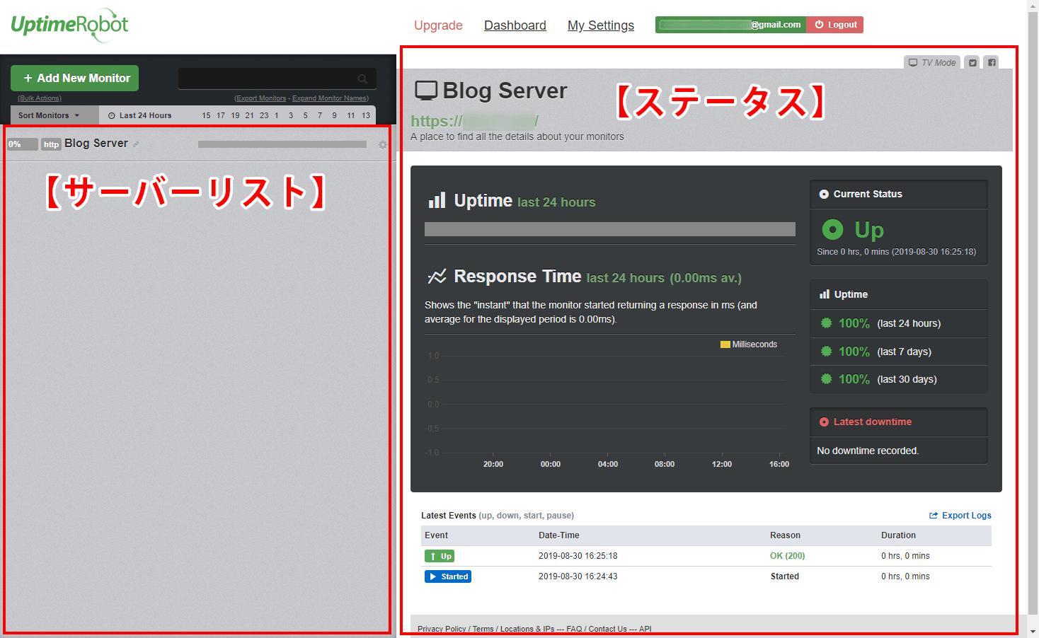 監視するサーバーの登録が完了