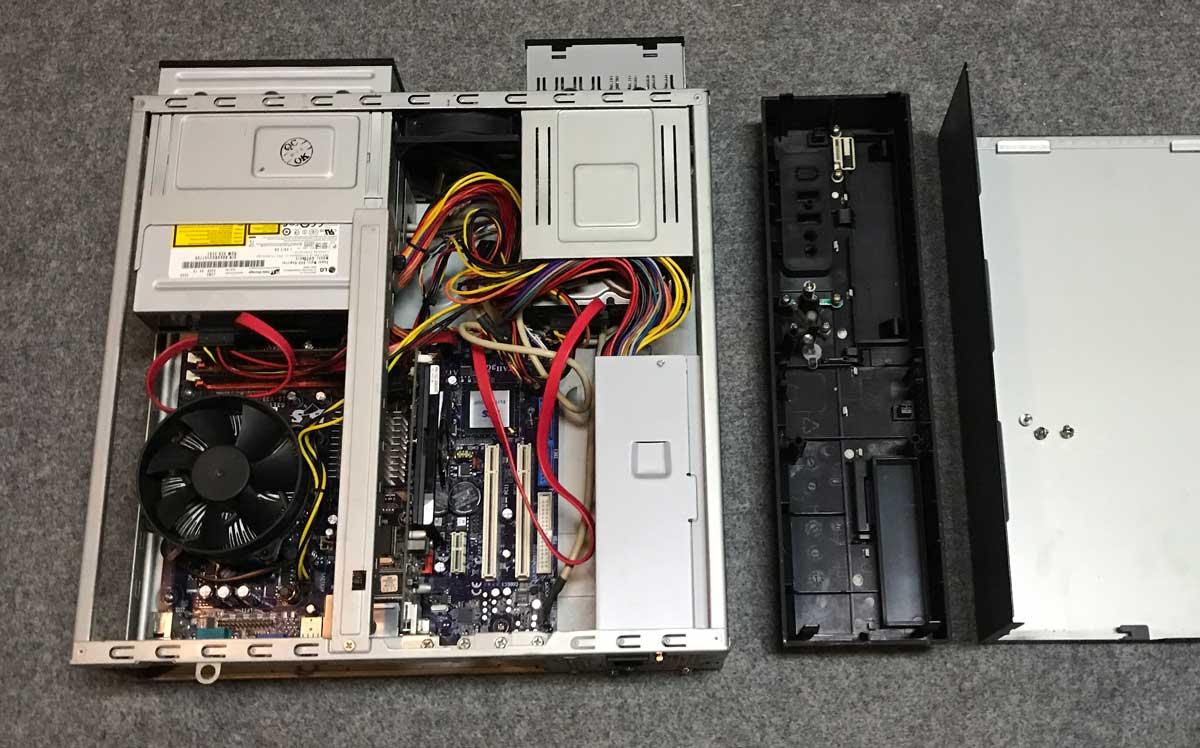 DVDドライブを元に戻してケーブル類を全て接続