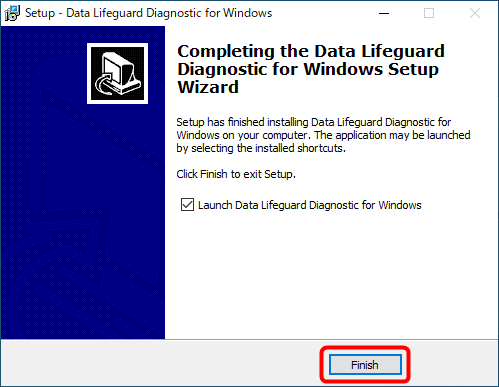 Data Lifeguard Diagnosticのインストール画面(3)