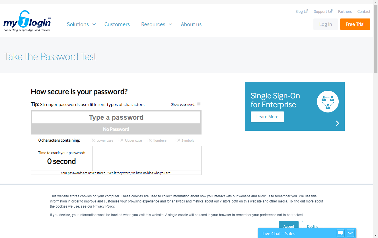 My1Login Password Strength Test