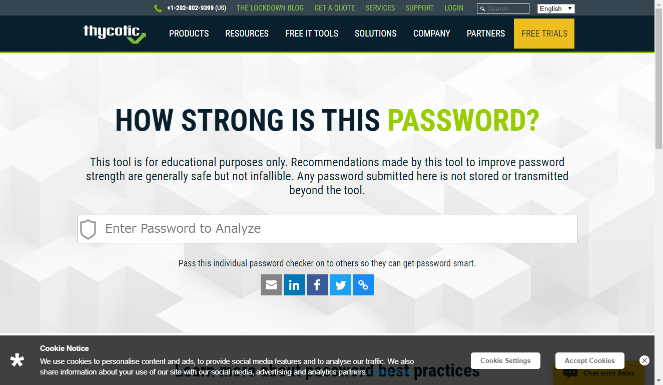 Thycotic Password Strength Checker