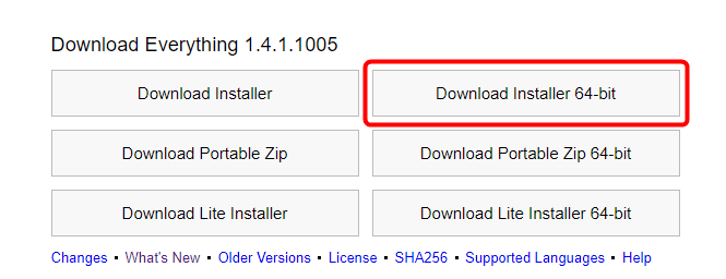 「Download Installer 64-bit」をクリック